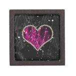 Corazón rosado de la perla cajas de regalo de calidad