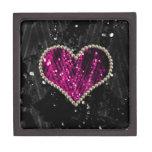 Corazón rosado de la perla caja de joyas de calidad
