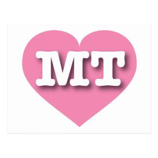 Corazón rosado de la TA de Montana Postal