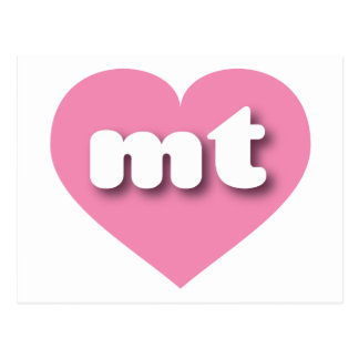 Corazón rosado de Montana mt Tarjeta Postal