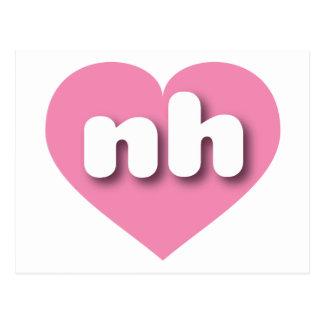 Corazón rosado de New Hampshire nh Postal