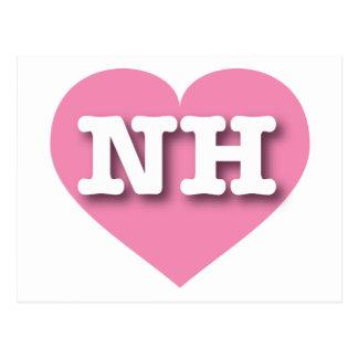 Corazón rosado de New Hampshire NH Postales