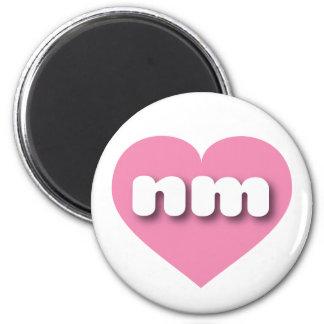 Corazón rosado de New México nanómetro Imán Redondo 5 Cm