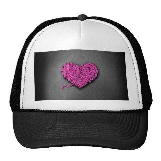 Corazón rosado de Warrpaed Gorro