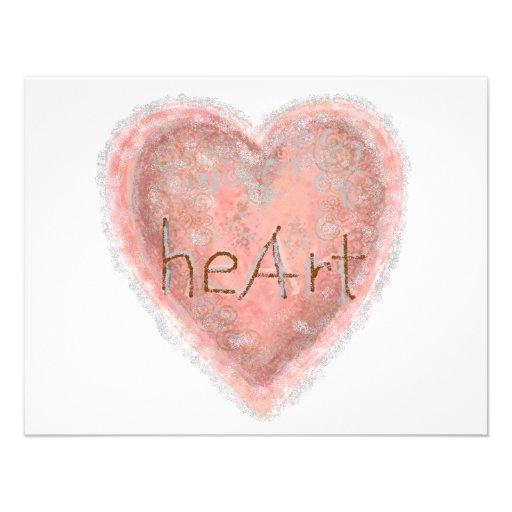 Corazón rosado del el día de San Valentín Invitacion Personalizada