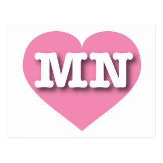 Corazón rosado del manganeso de Minnesota Postales