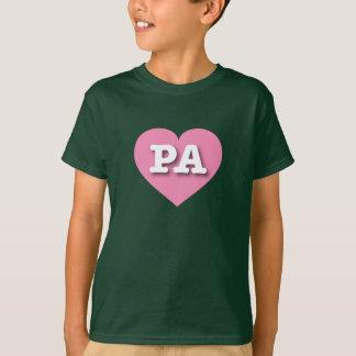 Corazón rosado del PA de Pennsylvania Playera