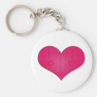 corazón rosado del resplandor llaveros personalizados