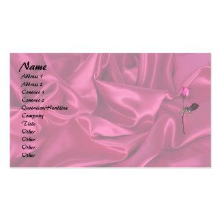 ¡Corazón rosado del satén Plantillas De Tarjetas Personales