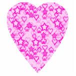 Corazón rosado. Diseño modelado del corazón Escultura Fotografica
