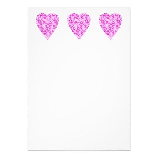Corazón rosado. Diseño modelado del corazón Anuncios Personalizados