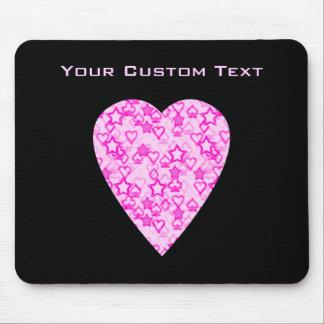 Corazón rosado. Diseño modelado del corazón Tapetes De Ratón