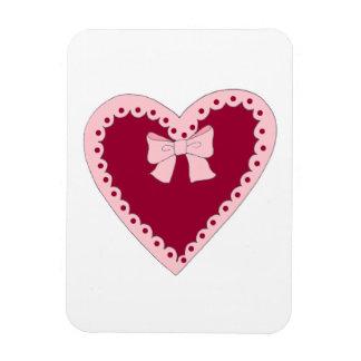 Corazón rosado dulce imanes