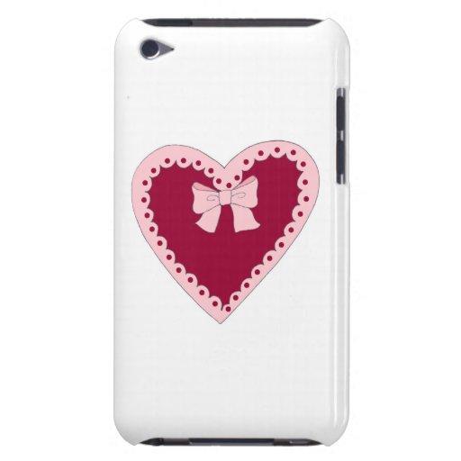 Corazón rosado dulce iPod touch Case-Mate fundas