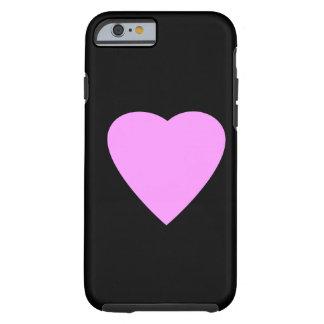 Corazón rosado en negro