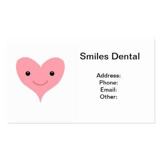 Corazón rosado feliz tarjetas de visita