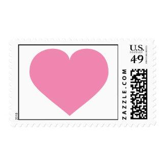 Corazón rosado franqueo