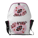 Corazón rosado Las Vegas Bolsa Messenger