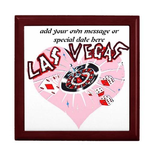 Corazón rosado Las Vegas Cajas De Recuerdo