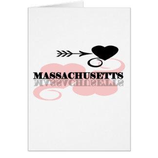 Corazón rosado Massachusetts Tarjeta De Felicitación