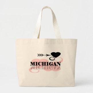 Corazón rosado Michigan Bolsa