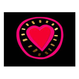 Corazón rosado moderno del el día de San Valentín Postales
