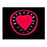 Corazón rosado moderno del el día de San Valentín Postal