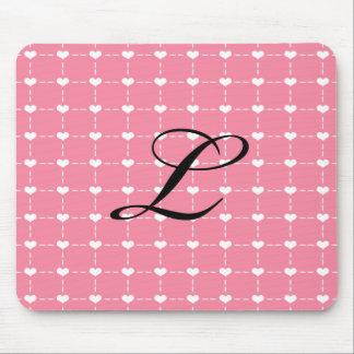 Corazón rosado Mousepad Tapetes De Ratones