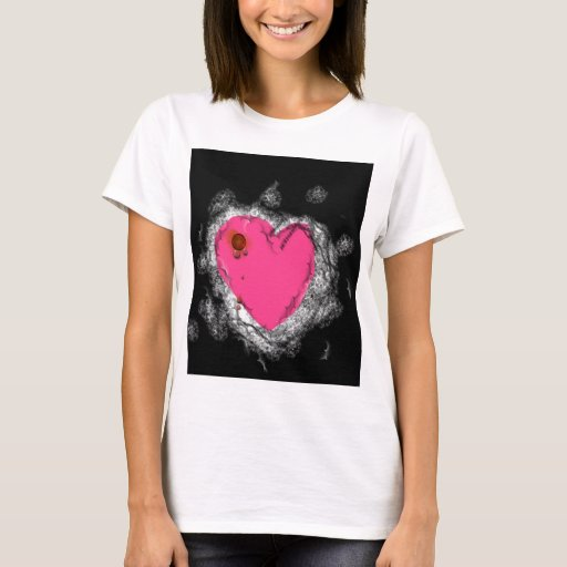 Corazón rosado playera