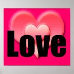 Corazón rosado, poster del amor