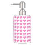 Corazón rosado precioso, &Toothbrush del dispensad Vaso Para Cepillos De Dientes