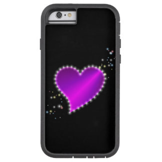 Corazón rosado púrpura del arco iris con las funda tough xtreme iPhone 6
