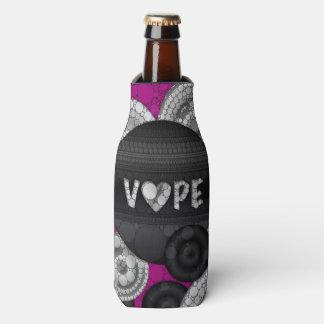 Corazón rosado púrpura del negro 3D Vape Enfriador De Botellas