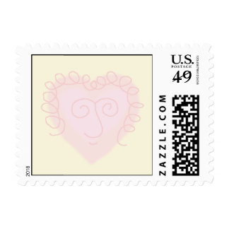 corazón rosado sellos