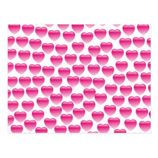 Corazón rosado tarjetas postales