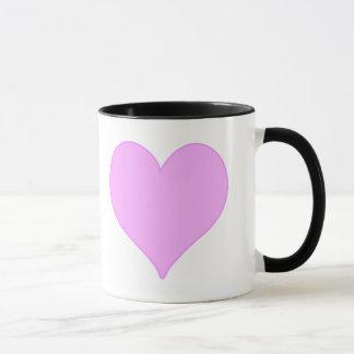 Corazón rosado taza