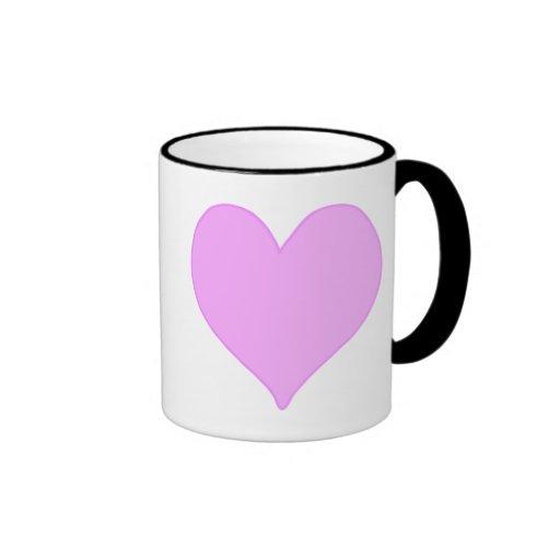 Corazón rosado taza de dos colores
