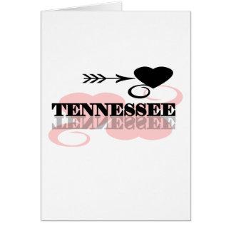 Corazón rosado Tennessee Tarjeta De Felicitación