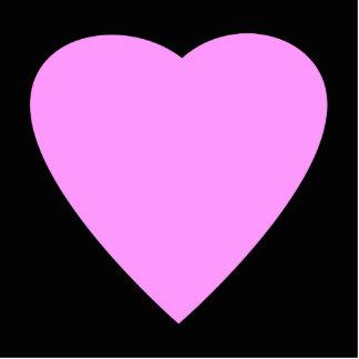 Corazón rosado y negro bonito del amor fotoescultura vertical