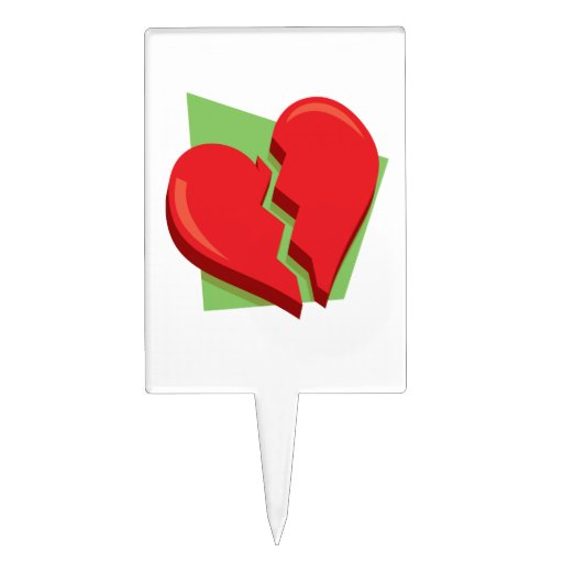 Corazón roto 2 figura para tarta