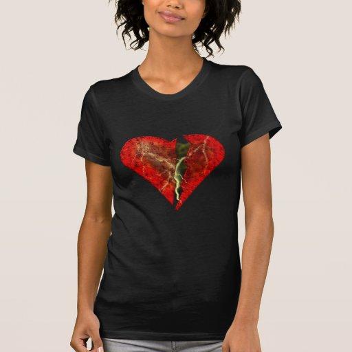 corazón roto broken heart camiseta