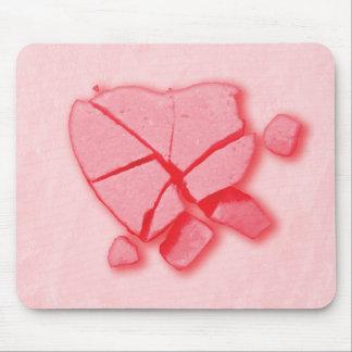 Corazón roto del caramelo tapetes de ratones