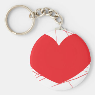 corazón roto llavero redondo tipo pin