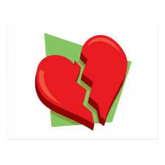 Corazón roto postal