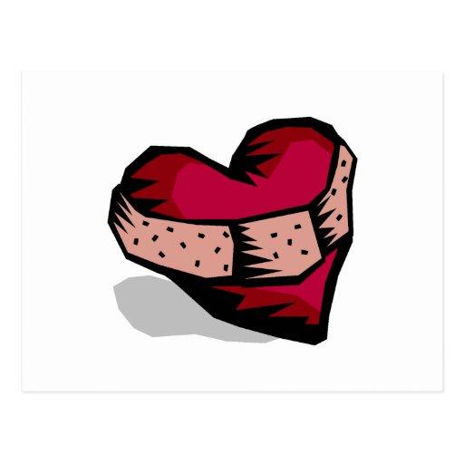 Corazón (roto) tarjetas postales