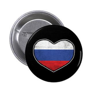Corazón ruso pin