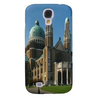 Corazón sagrado Bruselas Bélgica de la basílica Funda Para Galaxy S4