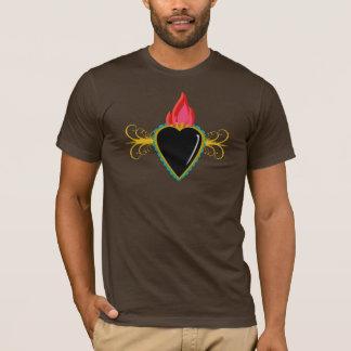 Corazón sagrado con el camisetas del personalizado