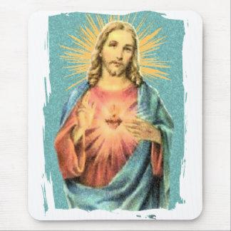 Corazón sagrado de Jesús Alfombrillas De Ratones