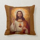 Corazón sagrado de Jesús con rezo Almohada
